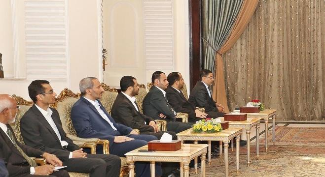 الرئيس العراقي يستقبل وفد الحوثيين