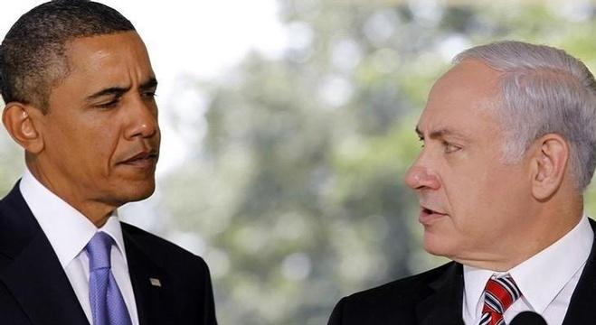 الرئيس الأمريكي باراك أوباما ورئيس وزراء إسرائيل بنيامين نتنياهو