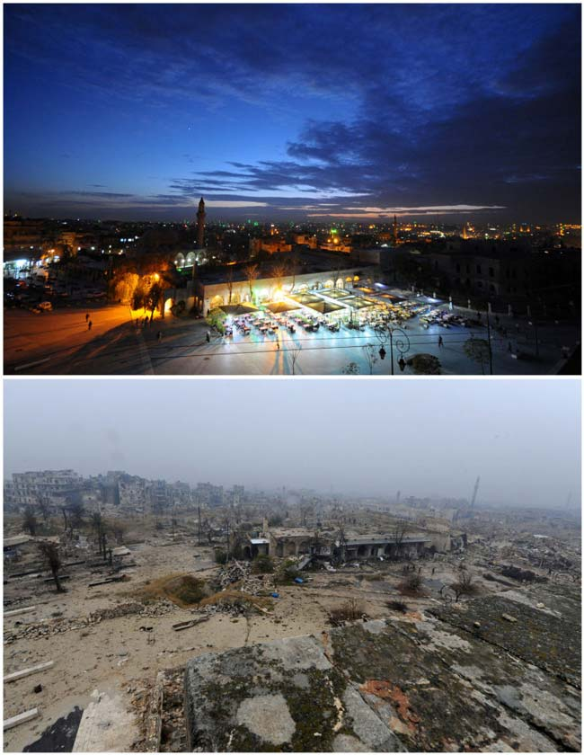 حلب قبل وبعد
