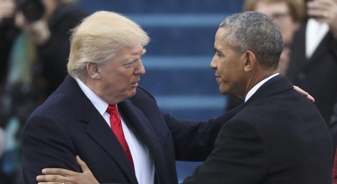 الرئيس الأمريكي دونالد ترامب وأوباما