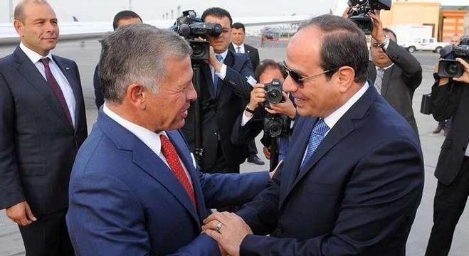 الرئيس المصري يستقبل العاهل الأردني في القاهرة